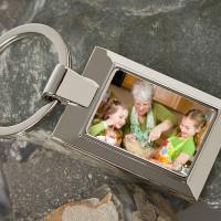 Personalised Grandma Photo Upload Metal Keyring