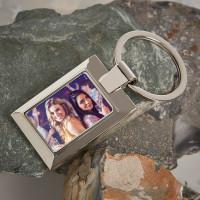 Personalised Sister Photo Upload Metal Keyring