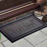 personalised Tattoo Studio Doormat