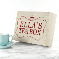 personalised Name Tea Box