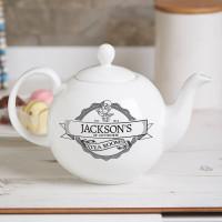 Personalised Tea Room 2 Pot Belly Teapot