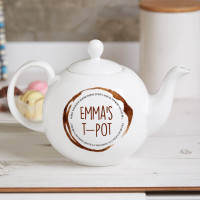 personalised Tea Stain Pot Belly Teapot