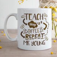 Teach Sleep Coffee Repeat mug