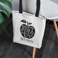 personalised Teacher's Apple Tote Bag