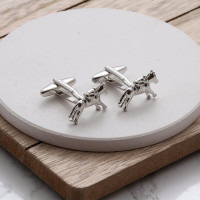 personalised Horse Racing Cufflinks Gift Set