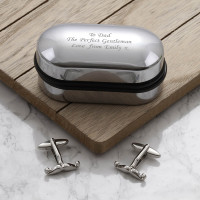 personalised Moustache Cufflinks Gift Set