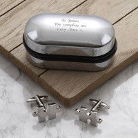personalised Jigsaw Puzzle Piece Cufflinks Gift Set