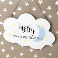 personalised Keep Dreaming Cloud Sign