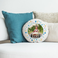 personalised Boys Moon & Stars Round Photo Cushion 18""