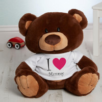 personalised I Heart You Chocolate Charlie Teddy Bear