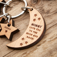 personalised Moon & Stars Keyring