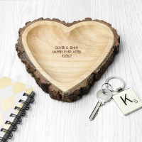 personalised Wooden Heart Dish