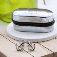 personalised Anchor Cufflinks