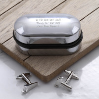 personalised Hammer and Saw Cufflinks Gift Set