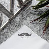 personalised Best Man Moustache Pocket Square