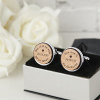 personalised Dad of all the walks Wooden Cufflinks