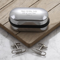 personalised Paperclip Cufflinks Gift Set