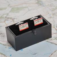 personalised ticket cufflinks