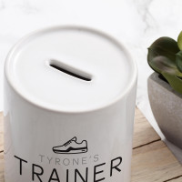 Personalised Trainer Fund Money Box