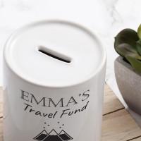 Personalised Travel Fund Money Box