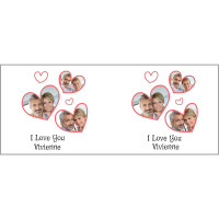 personalised Heart Collage Photo Durham Mug
