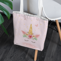 personalised Unicorn Canvas Tote Bag