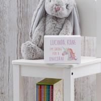 personalised Unicorn Wooden Money Box