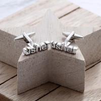 personalised usher cufflinks