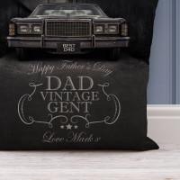 personalised Vintage Gent Cushion