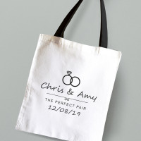 personalised Wedding Couples Tote Bag