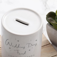 personalised Wedding Day Fund Personalised Money Box