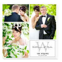 """personalised 12x12"""" Wedding Collage Canvas"""