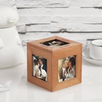 wood photo cube
