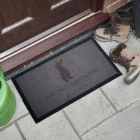 personalised Welcome Everybunny Doormat