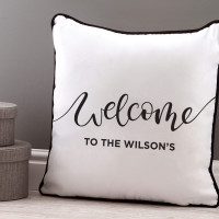 Welcome Piped Cushion