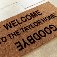 personalised welcome doormat