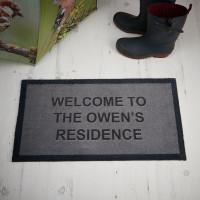 personalised welcome to doormat