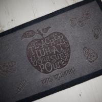 personalised Teacher Superpower Doormat