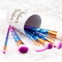 personalised White Marble Makeup Brush Pot