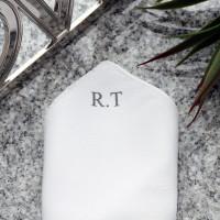 personalised Monogram Pocket Square