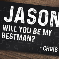 personalised Will You Be My Best Man Jigsaw Puzzle
