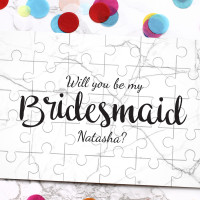 personalised Be My Bridesmaid Jigsaw Puzzle