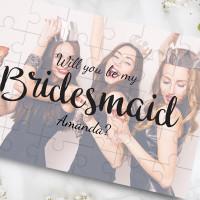 personalised Be My Bridesmaid Photo Jigsaw Puzzle