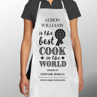 Personalised Best Cook in the World Apron