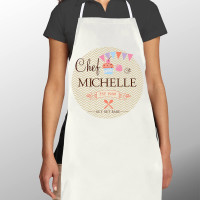 Personalised Get Set Bake Women's Chef Apron