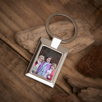 Personalised Kids Photo Upload Metal Keyring