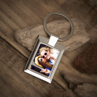 Personalised Friend Photo Upload Metal Keyring
