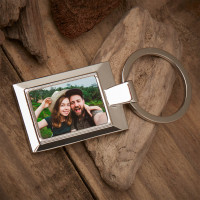 Personalised Husband Photo Upload Metal Keyring