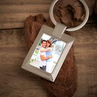 Personalised Wife Photo Upload Metal Keyring