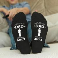 personalised worlds best dad socks